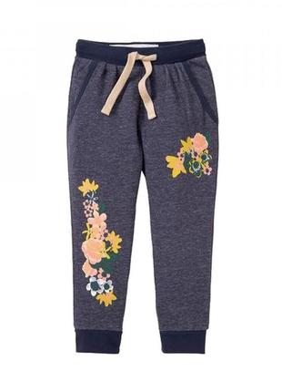 Классные трикотажные спортивные штаны на девочку lupilu германия