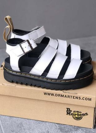 Сандали кожаные martens sandals white