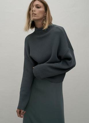 Трикотажний светр оверсайз zara