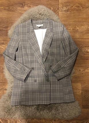 Шикарный двубортный пиджак жакет h&m