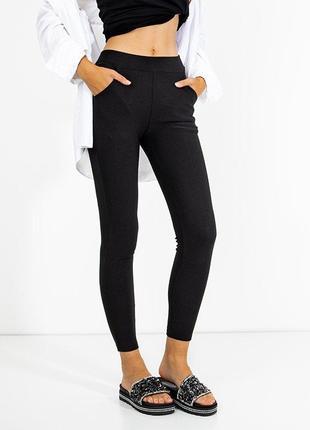 Чорні жіночі легінси з кишенями