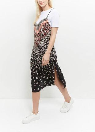 Новое миди платье с разрезами new look