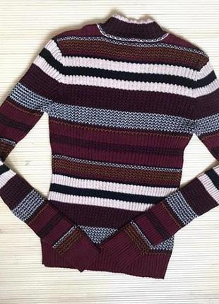 Яркий, стильный, тёпленький #свитерочек в полоску #aeropostale с горлом💕.