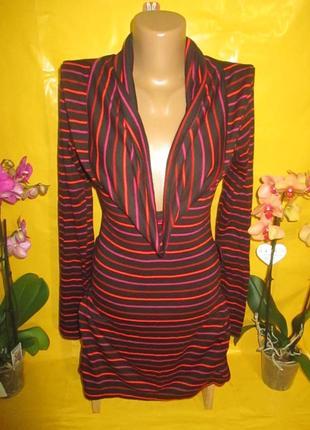 Очень красивое женское платье в полоску грудь 38-47 см tally weijl (талли вейл) !!!!!!!!!!