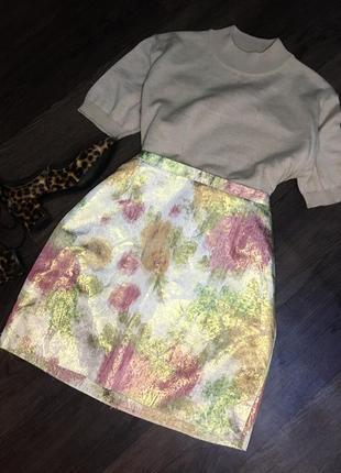 H&m короткая цветная юбка
