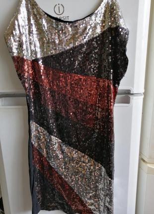 Крутейшее платье в пайетках