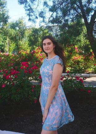 Летнее красивое выпускное платье