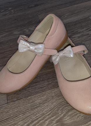 Туфли лапси розовые блеск