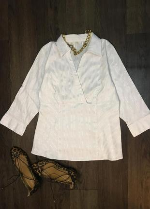 M&s белоснежная блуза рубашка