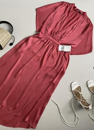 Новое красивейшее платье миди zara