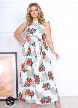 Сукня максі з квітковим принтом