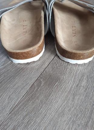 Шлёпанцы босоножки биркенштоки кожа размер 385 фото