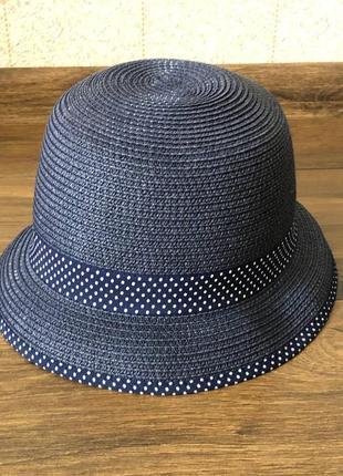 Шляпка из плетеной бумажной соломки h&m 56 см