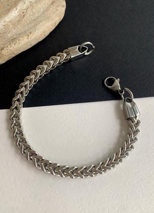 Чоловічий браслет зі сталі широкий, великий браслет нержавіюча сталь, браслет мужской стальной