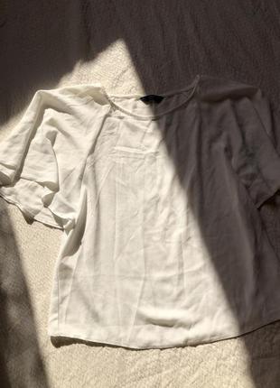 Блуза с коротким рукавом молочного цвета