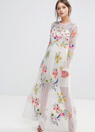 новорічний розпродаж! frock and frill роскошное расшитое платье доставка  сутки 42ad63553d2c9