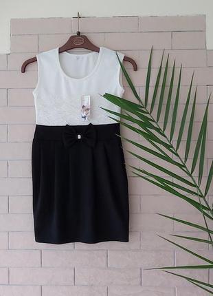 Плаття на дівчинку.нове дитяче плаття.турція.платье детское.чорно- біле плаття на ріст 134 - 140 см.