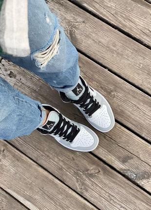 Nike air jordan gray кроссовки найк женские джордан обувь кеды3 фото