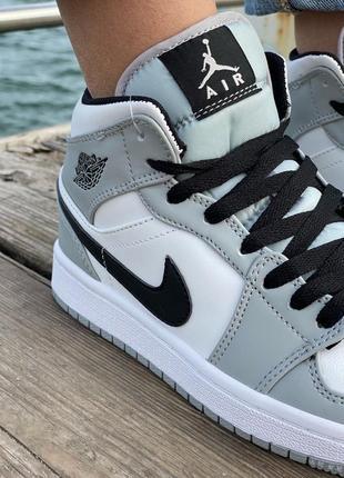Nike air jordan gray кроссовки найк женские джордан обувь кеды7 фото