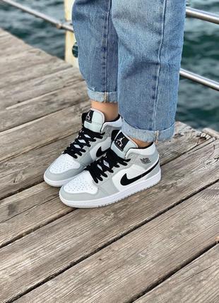 Nike air jordan gray кроссовки найк женские джордан обувь кеды
