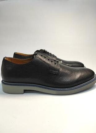 Туфли кожаные geox черные туфлі шкіряні1 фото