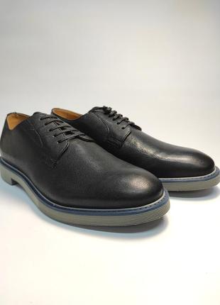 Туфли кожаные geox черные туфлі шкіряні2 фото