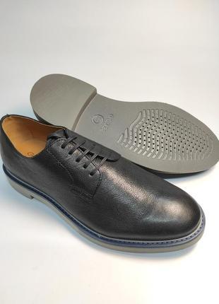 Туфли кожаные geox черные туфлі шкіряні7 фото