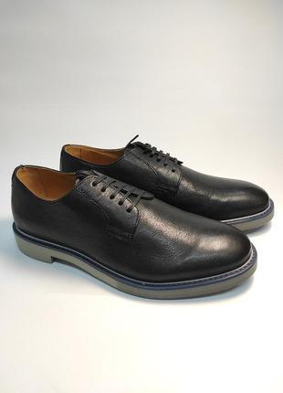 Туфли кожаные geox черные туфлі шкіряні3 фото