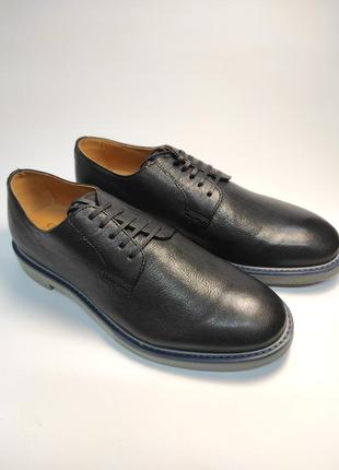 Туфли кожаные geox черные туфлі шкіряні4 фото