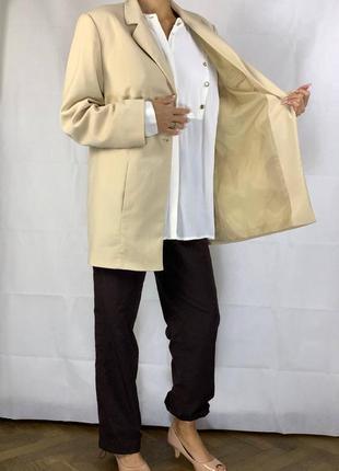 Айвори пиджак оверсайз жакет обьемный куртка5 фото