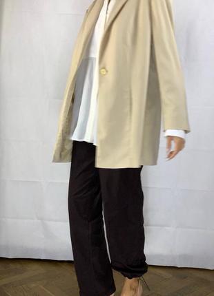 Айвори пиджак оверсайз жакет обьемный куртка7 фото