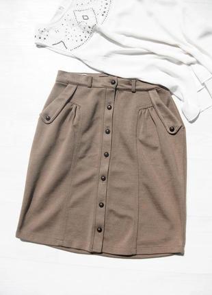 Светло коричневая юбка с карманами vero moda