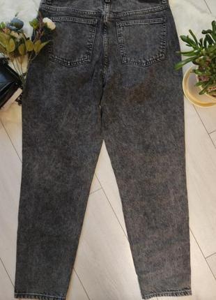 Джинсы мом mango, графитовые с высокой посадкой, джинси мом4 фото
