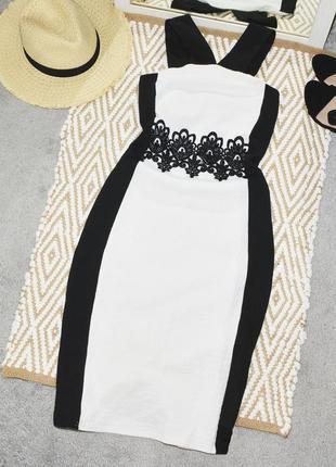 Новое миди платье с кружевами quiz