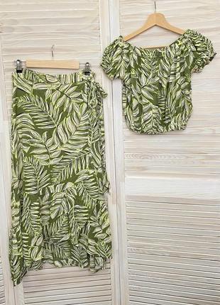 Костюм жіночий спідниця блуза топ для пляжу women'secret женский костюм юбка топ