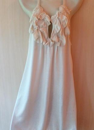 Платье трикотаж размер l  armani exchange  шелк+коттон лучшее для лета