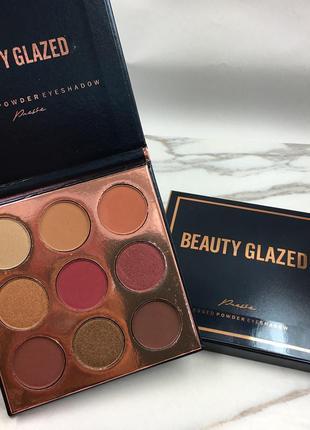 🎨🧡палетка высокопигментированных теней для век beauty glazed pressed powder eyeshadow (9 color)
