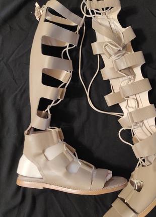 38 разм. стильные сандалии римлянки. кожа
