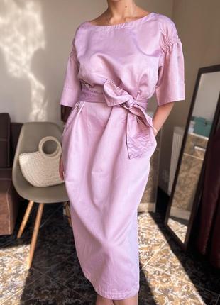 Льняное платье миди guglielminotti италия