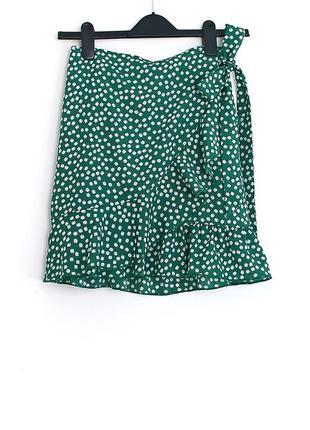 Легкая милейшая юбочка с рюшками и бантом