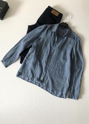 Шёлковая блуза 100% шёлк massimo dutti  с дефектом