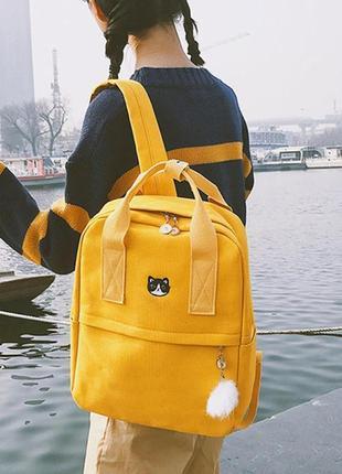 Рюкзак для подростка с котом mochila