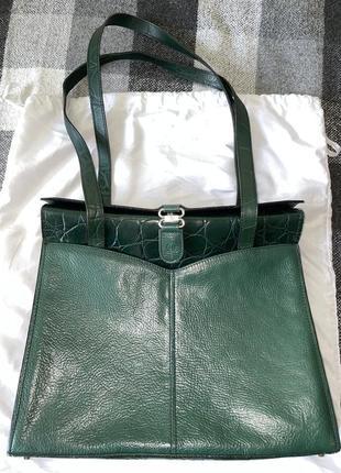 Lorenzo,сумка смарагдового кольору ,шкіра