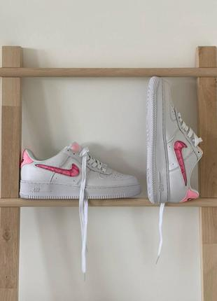 Nike air force love white кроссовки найк женские форсы аир форс кеды обувь взуття