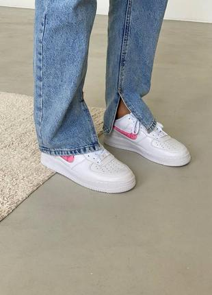 Nike air force love white кроссовки найк женские форсы аир форс кеды обувь взуття3 фото