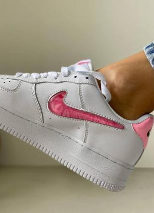Nike air force love white кроссовки найк женские форсы аир форс кеды обувь взуття10 фото