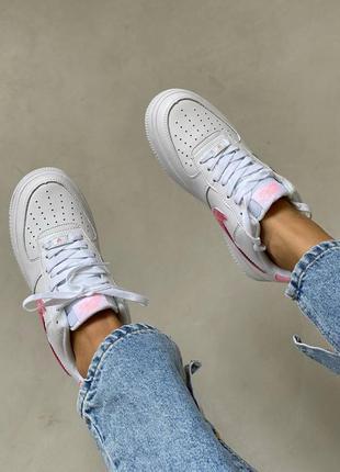 Nike air force love white кроссовки найк женские форсы аир форс кеды обувь взуття9 фото