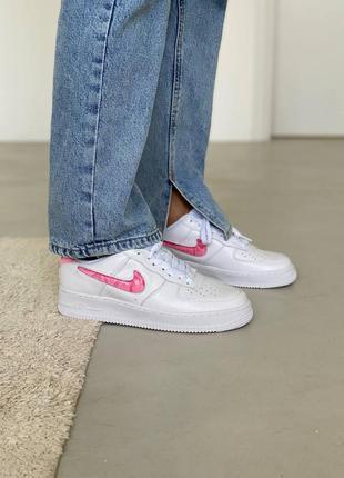 Nike air force love white кроссовки найк женские форсы аир форс кеды обувь взуття7 фото