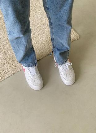 Nike air force love white кроссовки найк женские форсы аир форс кеды обувь взуття6 фото