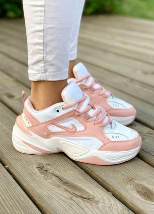 Женские кроссовки nike m2k tekno 'white pink'